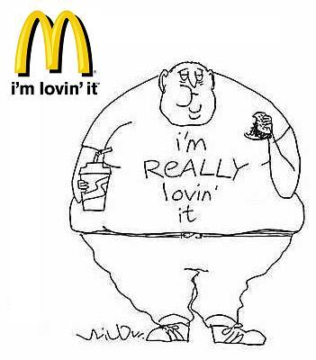 bad food cartoon